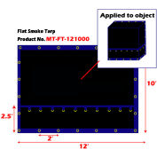 Xtarps, MT-FT15-B1210, Flatbed Truck Tarp, Light Weight Flat Smoke Tarp, 12'W x 10'L, Black