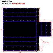 Xtarps, MT-LB15-B2419, Flatbed Truck Tarp, Light Weight Lumber Tarp w/ 8' Drop, 24'W x 19'L, Black