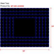 Xtarps, MT-MC15-B2430, Flatbed Truck Tarp, Light Weight Machinery Tarp, 24'W x 30'L, Black