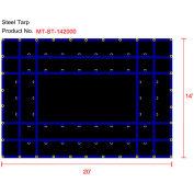 Xtarps, MT-ST18-B1420, Heavy Duty Flatbed Truck Tarp, Steel Tarp, 14'W x 20'L, Black