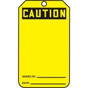 Accuform MGT200PTP Caution Tag, Caution, RP-Plastic, 25/Pack