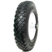 """Marathon 00047 4.80/4.00-8 Knobby Tread Flat Free Wheelbarrow Tire - 6"""" Centered - 5/8"""" Bearings"""