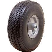 "Marathon Flat Free Tire 30030 - 4.10/3.50-4 Sawtooth Tread - 3.5"" Centered - 5/8"" Bearings"