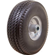 "Marathon Flat Free Tire 30031 - 4.10/3.50-4 Sawtooth Tread - 3.5"" Centered - 3/4"" Bearings"