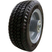 "Marathon 33101 6 x 2 Sawtooth Tread Flat Free - 2.375"" Centered Hub - 1/2"" Bearings"