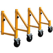 Metaltech Outriggers w/ Casters for Steel Maxi Scaffold - 4 Pack - I-CIS04