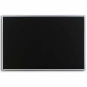 "Marsh 48""x 36"" Black Composition Chalkboard, Aluminum Trim"
