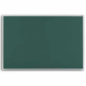 "Marsh 72""x 48"" Green Composition Chalkboard, Aluminum Trim"