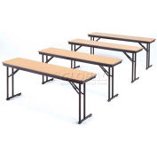 """18"""" x 72"""" Training Table with Fixed Height Comfort Legs, Walnut"""