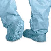 Medline Polypropylene Non-Skid Shoe Covers, Large, Blue, 100/Box