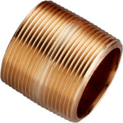1-1/2 In. X 1-3/4 In. Lead Free Seamless Red Brass Pipe Nipple - 140 PSI - Sch. 40 - Domestic