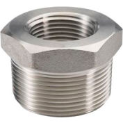 "Ss 304 Barstock Hex Head Bushing 3/8 X 1/4"" Npt Male X Female - Pkg Qty 25"