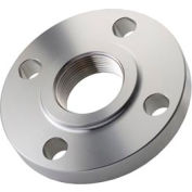 "304 Stainless Steel Class 150 Threaded Flange 1/2"" Npt Female - Pkg Qty 4"