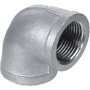 "Iso Ss 304 Cast Pipe Fitting 90 Degree Elbow 4"" Npt Female - Pkg Qty 2"