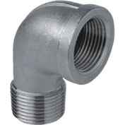 """Iso Ss 304 Cast Pipe Fitting 90 Degree Street Elbow 1/8"""" Npt Male X Female - Pkg Qty 50"""