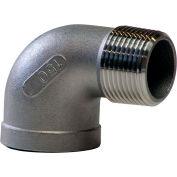 1/2 In. 304 Stainless Steel 90 Degree Street Elbow - MNPT X FNPT - Class 150 - 300 PSI - Import