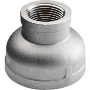 """Iso Ss 304 Cast Pipe Fitting Reducing Coupling 3/8"""" X 1/8"""" Npt Female - Pkg Qty 50"""