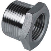 "Iso Ss 304 Cast Pipe Fitting Hex Bushing 1/4"" X 1/8"" Npt Male X Female - Pkg Qty 100"