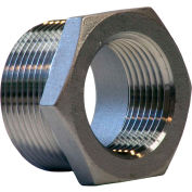 "3/4"" X 1/2"" 304 Stainless Steel Bushing - MNPT X FNPT - Class 150 - 300 PSI - Import"