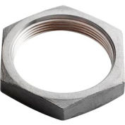 "Iso Ss 304 Cast Pipe Fitting Hex Locknut 2-1/2"" Npt Female - Pkg Qty 10"