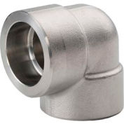 "Ss 316/316l Forged Pipe Fitting 2"" 90 Degree Elbow Socket Weld - Pkg Qty 2"