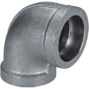 "Mss Ss 304 Cast Pipe Fitting 90 Degree Elbow 1/2"" Socket Weld Female - Pkg Qty 27"