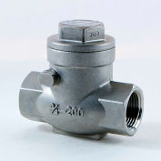 2-1/2 In. 316 Stainless Steel Swing Check Valve - 200 PSI - Pkg Qty 2