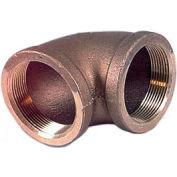 """Brass 125 Lb Lead Free Fitting 2-1/2"""" X 2"""" 90 Degree Reducing Elbow Npt Female - Pkg Qty 2"""
