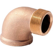 3/4 In. Lead Free Brass 90 Degree Street Elbow - MNPT X FNPT - 125 PSI - Import
