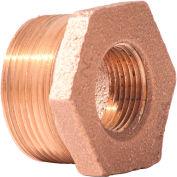 3/4 In. X 1/2 In. Lead Free Brass Bushing - MNPT X FNPT - 125 PSI - Import