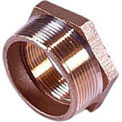 "Brass 125 Lb Lead Free Fitting 1-1/4"" X 3/4"" Hex Bushing Npt Male X Female - Pkg Qty 25"