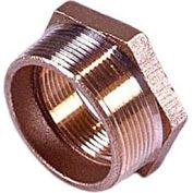 """Brass 125 Lb Lead Free Fitting 1-1/4"""" X 3/4"""" Hex Bushing Npt Male X Female - Pkg Qty 25"""