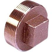 Brass 125 Lb Lead Free Fitting 1-1/2 Square Head Solid Plug Npt Female - Pkg Qty 10
