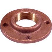 "Brass 150 Lb Lead Free Fitting 3/4"" Threaded Companion Flange Npt Female - Pkg Qty 10"