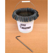 "Bucket of Stakes, 10"", Plain Steel"