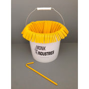 "Bucket of Stakes, 10"", Yellow"