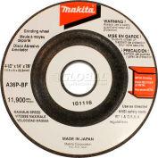 "Makita Grinding Wheel, 741424-8-1, 4-1/2"" x 7/8"" x 1/4"", 36 Grit"