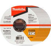 "Makita® INOX Thin Cut-Off Wheel, 60 Grit, Type 1, 5"" Dia x 1/25""T x 7/8"" Cntr Hole Dia, 10/Pk"
