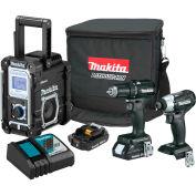 Makita® LXT® Cordless 3-Pc. Combo Kit, 2.0Ah, 18V, Lithium-Ion, Sub-Compact