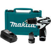 "Makita Cordless Driver-Drill Kit, FD02W, 12V Max Lithium-Ion, 3/8"", 2-Speed, Rev., L.E.D. Light"