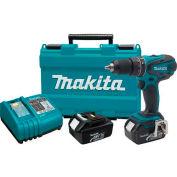 """Makita Cordless Hammer Driver-Drill Kit, LXPH01, 18V LXT Lithium-Ion, 1/2"""", 2-Speed, L.E.D. Light"""