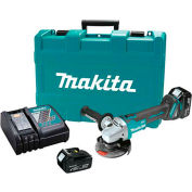 "Makita® XAG03M 18V LXT Lithium-Ion Brushless 4-1/2"" Cut-Off/Angle Grinder Kit (4.0 Ah)"
