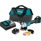 "Makita® LXT® Cordless 4-1/2""/5"" Cut-Off/Angle Grinder Kit, 5.0Ah, 18V, Li-Ion, 8500RPM"