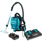 Makita XCV05PT 18V X2 36V Brushless Cordless 1/2 Gal HEPA Filter Backpack Dry Dust Vacuum Kit 5.0Ah