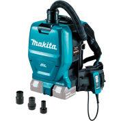Makita XCV05ZX 18V X2 LXT 36V Brushless Cordless 1/2 Gal HEPA Filter Backpack Dry Vacuum & Adapters