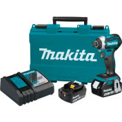 Makita® LXT® 3-Speed Impact Driver Kit, 5.0Ah, Li-Ion, 18V, Brushless, Cordless