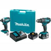 Makita XT261M 18V LXT 4.0Ah Li-Ion Cordless 2Pc Kit Hammer Drill/Impact Driver XPH10Z, XDT11Z