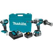 Makita® LXT® Cordless 2-Pc. Combo Kit, 5.0Ah, 18V, Lithium-Ion, Brushless, 1500 lbs Torque