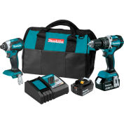 Makita® LXT® Cordless 2-Pc. Combo Kit, 5.0Ah, 18V, Lithium-Ion, Brushless, 530ft lbsTorque