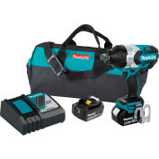 "Makita® Cordless High-Torque 3/4"" Impact Wrench Kit, 5.0Ah, 18V LXT® Li-Ion, Friction Ring"